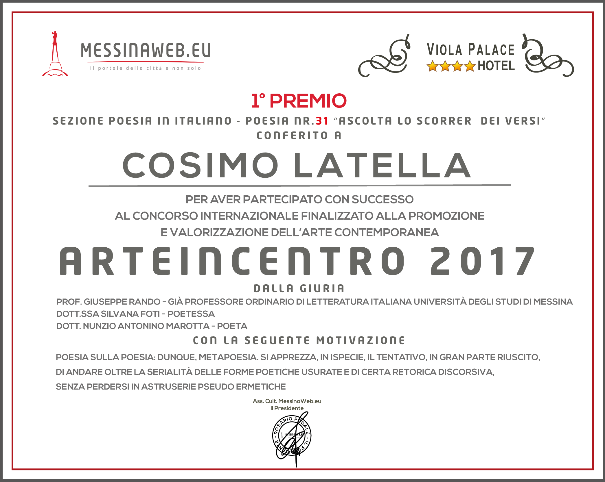 1PREMIO LATELLA