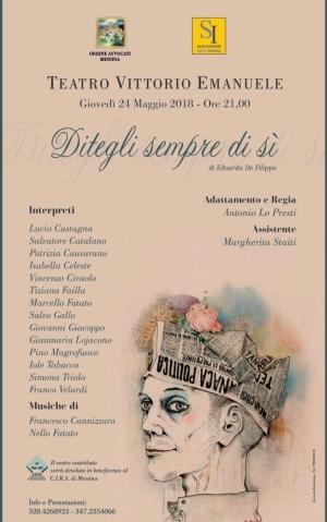 Per la casa famiglia di Messina per il Cirs  si mobilita l' Ordine degli  avvocati con una rappresentazione teatrale il 24 maggio