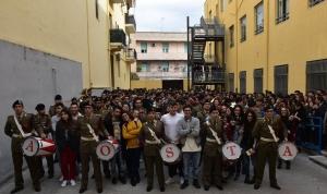 Messina - Il Liceo Seguenza canta l'Inno d'Italia con la Brigata AOSTA