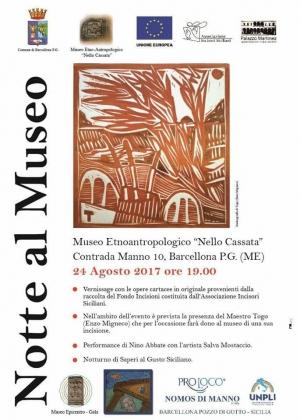 Barcellona Pozzo di Gotto: una notte al Museo Etnoantropologico Nello Cassata