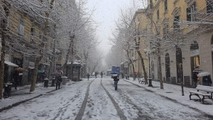 La neve a Napoli. E le palle di neve.....si vendono Belle e fatte