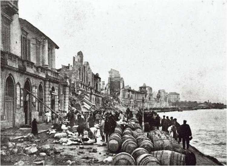 Concetto Marchesi a Messina dopo il terremoto