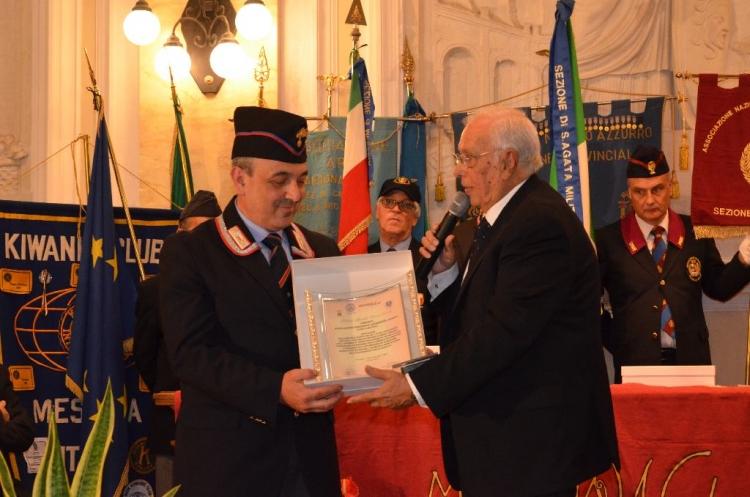 Premio Speciale Orione 2016 - Associazione Nazionale Carabinieri – Sezione di S.Agata Militello