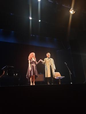 Mirabile interpretazione di Ninni Bruschetta. Con la pianista Cettina Donato al Savio