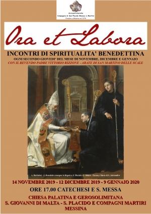 Incontri con la spiritualita' benedettina. Alla chiesa di San Giovanni di Malta  da oggi 14 novembre ore 17.