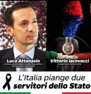 «Italia in lutto per un vile attentato».