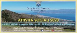 Nuccio Zanghi' presidente CAI  Messina e le attività sociali 2020