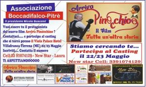 CIAK...si gira per il  nuovo Pinocchio. Casting a Villafranca Tirrena 22 e 23 maggio. Regista Nicola Buscemi.