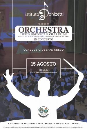 """Rossano: Concerto dell'Orchestra Lirico-Sinfonica """"F. Cilea"""" di Palmi"""