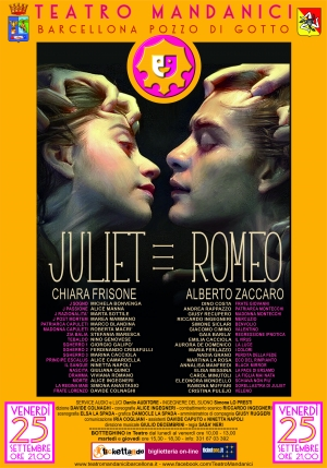 """Barcellona Pozzo di Gotto: la ripartenza del Teatro Mandanici con """"Julet ≡ Romeo"""""""