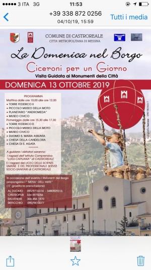 Castroreale tra  mille iniziative Il 13 ottobre