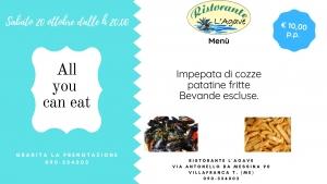 Villafranca Tirrena (Me) 20 ottobre 2018 serata Gastronomica al Viola Palace Hotel - Ristorante l'Agave