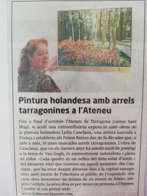 Mostra Personale:  Lydia Canclaux presentata da Maria Teresa Prestigiacomo