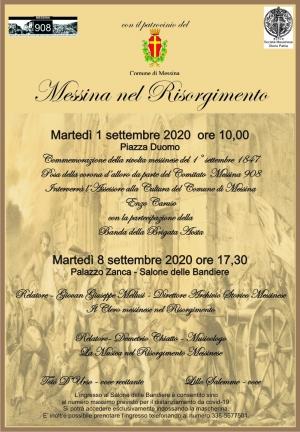 Commemorazione della Rivolta del 1° Settembre 1847 Messina nel Risorgimento