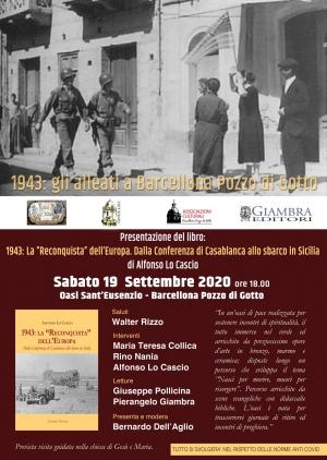 """Barcellona Pozzo di Gotto: presentazione del libro «1943: La """"Reconquista"""" dell'Europa»"""