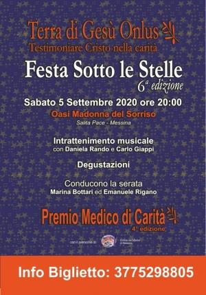 Mercoledì 2 settembre conferenza stampa Festa sotto le stelle-Premio Medico di Carità