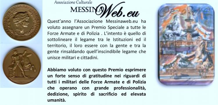 PREMIO SPECIALE ORIONE - CAPITANERIA DI PORTO – AUTORITA' MARITTIMA DELLO STRETTO DI MESSINA  conferito al Sottotenente di Vascello Matteo Verrigni.