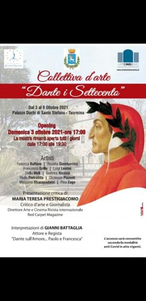 Taormina - VERNISSAGE 3 OTTOBRE ORE 17:00. Mostra d'arte omaggio a Dante Alighieri. Castello Duchi di Santo Stefano
