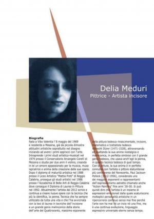 Delia Meduri con la sua opera L' Angelo al Viola Palace Hotel 4 stelle  sino al 28 ottobre