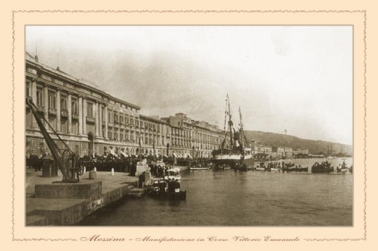 Messina - Manifestazione in Corso Vittorio Emanuele