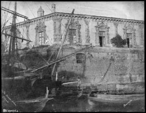 1846-1852 Palazzo Biscari a Catania come a Venezia baciato dal mare