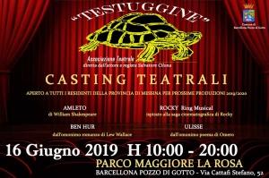 """Barcellona Pozzo di Gotto: casting per quattro spettacoli teatrali organizzati dalla """"Testuggine"""""""