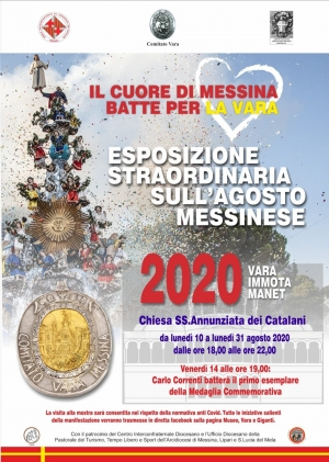 VARA IMMOTA MANET 2020 - COMUNICATO STAMPA - ESPOSIZIONE STRAORDINARIA SULL'AGOSTO MESSINESE