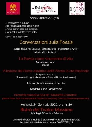 Interessante convegno intorno alla poesia Con il noto poeta Nicola Romano ed Eugenio Amato
