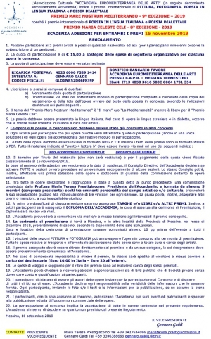 BANDO DEL CONCORSO POESIA PITTURA FOTOGRAFIA  Concours pour poemes, peintres et photografies   MARIA CELESTE CELI A TEMA LIBERO