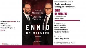 """""""L'Alba del Terzo Millennio"""". Presenta un  book event Morricone Tornatore a Roma"""