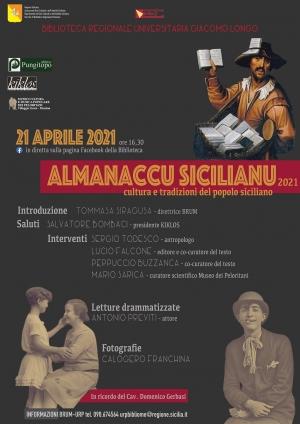 ALMANACCU SICILIANU      Incontro di presentazione del volume   in diretta live, sulla pagina Facebook della Biblioteca