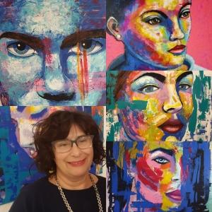 Contatto: pittura quale interazione opera-fruitore; il colore come riscatto del grigiore esistenziale nella pittura di Angela Sarchiello