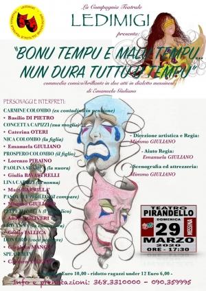 Commedia  con la regia di Mimmo Giuliano domenica 29 marzo a Messina