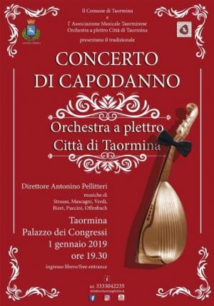 Concerto di Capodanno attesissimo al Palacongressi L orchestra a plettro diretta da  Antonino Pellitteri renderà magica la serata 1 gennaio ore 19.30 Taormina