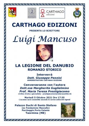 Luigi Mancuso  il 5 ottobre a Taormina con  il suo libro Carthago Edizioni