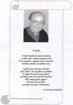 15° ANNIVERSARIO SCOMPARSA MONS. GIUSEPPE MALGIOGLIO: SI INTITOLI A LUI IL FUTURO PARCO URBANO DI CAMARO S. PAOLO!