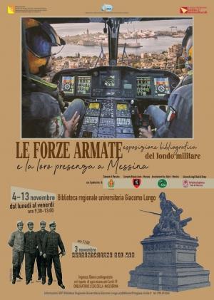 Biblioteca Regionale di Messina-Forze Armate eposizione bibliografica-Presentazione sul web-3 nov.2020, ore 11
