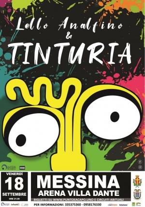 Prossima settimana LELLO ANALFINO & TINTURIA 18 SETTEMBRE 2020 MESSINA ARENA VILLA DANTE - ORE 21.00