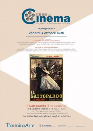 Taormina Arte nella Casa del Cinema i film che hanno fatto Storia Il Gattopardo il 4 ottobre.
