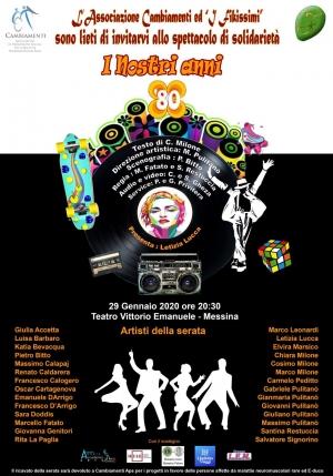 29 gennaio Teatro Vittorio Emanuele Rivivono gli anni Ottanta