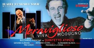 """OMAGGIO AI BIG DELLA CANZONE ITALIANA. Viva  Modugno"""" AL TEATRO SAVIO domenica 20 gennaio ore 18:00"""