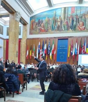 """Messina: Salone delle Bandiere XI Istituto Comprensivo Gravitelli  """"La Presenza ebraica a Messina"""""""
