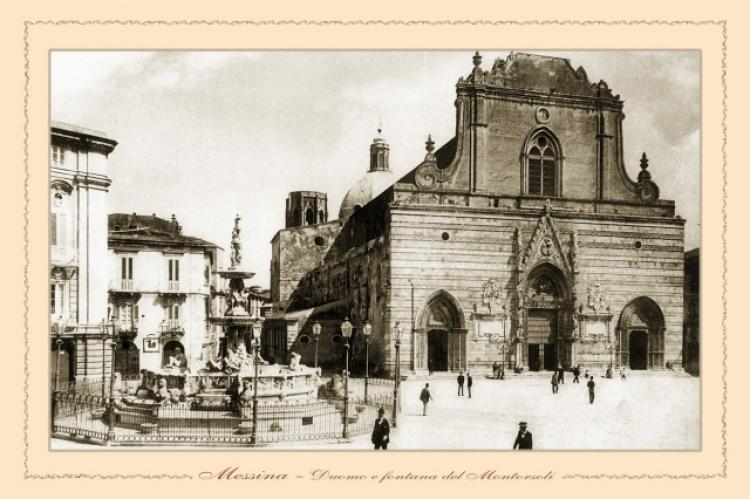 Messina - il Duomo e Fontana del Montorsoli
