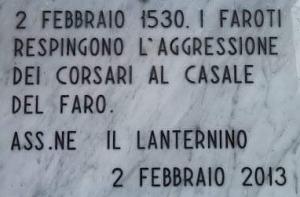 LA BATTAGLIA DELLA CANDELORA - Il 2 Febbraio 1530 corsari saraceni assaltarono il casale di Faro Superiore