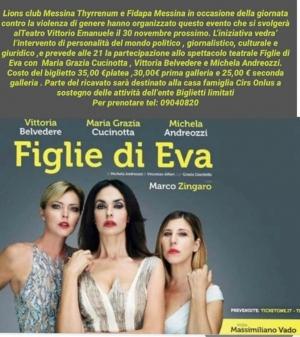 Maria Grazia CUCINOTTA per le donne contro la violenza oggi Teatro Vittorio Emanuele