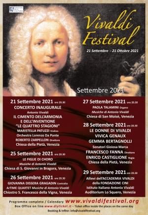 Venezia 21 settembre  e Catania 23 settembre  tra Vivaldi e Bellini. Direttore artistico Enrico Castiglione
