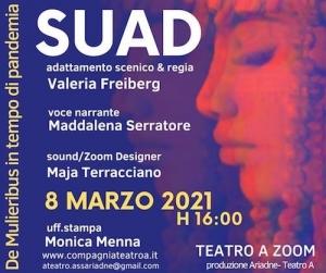 La Compagnia Teatro A celebra la Giornata Internazionale della Donna con uno spettacolo in diretta su Zoom