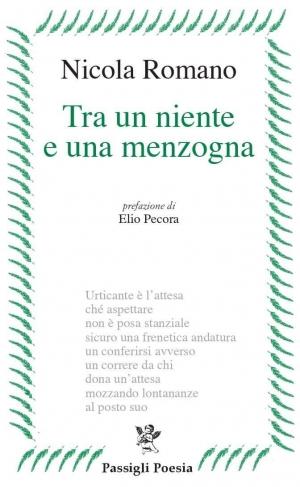 """Il noto poeta Nicola Romano al suo ennesimo libro di poesia """"Tra un niente ed una menzogna"""" Passigli Editore"""