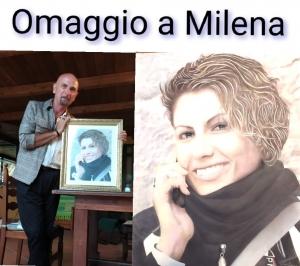 Omaggio dal pittore Di Natale alla memoria di Milena  morta tre mesi fa