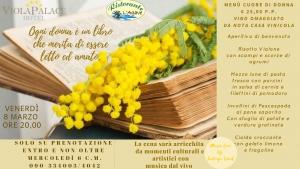 Festa della Donna - Villafranca Tirrena Ristorante l'Agave 8 marzo ore 20.30